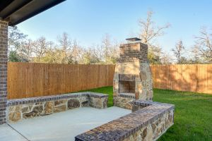 Fireplaces and Firepits #002 by Paradise Oasis Pools