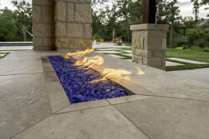 Fireplaces and Firepits #004 by Paradise Oasis Pools